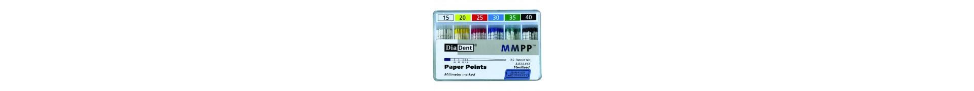 Papírové čepy Diadent 02,04,06